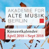 Akamus Konzertkalender April - September 2018
