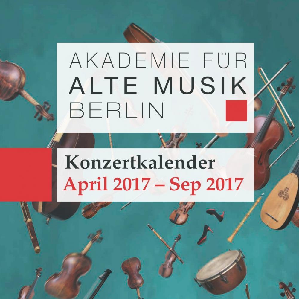 Akamus Konzertkalender April - September 2017